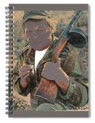 Barry Sadler With Machine Gun On His Shoulder Tucson Arizona 1971-2015 Spiral Notebook