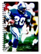 Barry Sanders On The Move Spiral Notebook