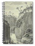 Basalt Rocks And The Cascade De Regla, Spiral Notebook