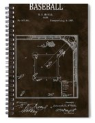 Baseball Game Patent Spiral Notebook