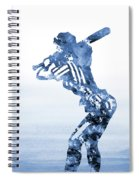 Baseball Girl-blue Spiral Notebook