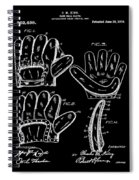 Baseball Glove Patent 1910 In Black Spiral Notebook
