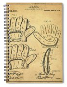 Baseball Glove Patent 1910 Sepia With Border Spiral Notebook