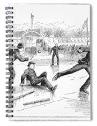 Baseball On Ice, 1884 Spiral Notebook