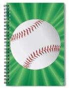 Baseball Over Green Spiral Notebook