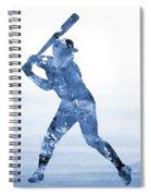 Baseball Player-blue Spiral Notebook
