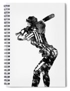Baseball Player Spiral Notebook