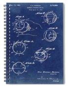 Baseball Training Device Patent 1961 Blue Spiral Notebook