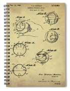 Baseball Training Device Patent 1961 Sepia Spiral Notebook