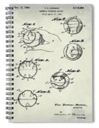 Baseball Training Device Patent 1961 Weathered Spiral Notebook