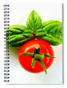 Basil And Cherry Tomato Spiral Notebook