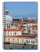 Basilica Della Salute And Punta Della Dogana In Venice Italy Spiral Notebook