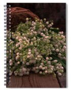 Basket Of Fresh Lily Of The Valley Flowers Spiral Notebook
