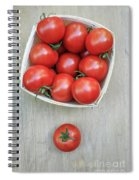 Basket Of Fresh Red Tomatoes Spiral Notebook