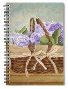 Basket Of Lilacs Spiral Notebook