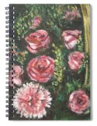 Basket Of Pink Flowers Spiral Notebook