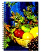 Basket With Fruit Spiral Notebook