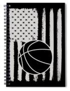 Basketball American Flag Usa Apparel Spiral Notebook