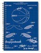 Basketball Patent 1916 Blue Print Spiral Notebook