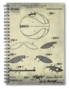 Basketball Patent 1916 Faded Grunge Spiral Notebook