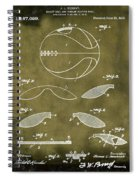 Basketball Patent 1916 Grunge Spiral Notebook