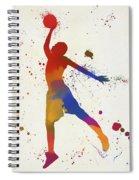 Basketball Player Paint Splatter Spiral Notebook