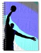 Basketball Poster Spiral Notebook