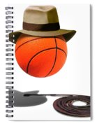 Basketball With Fedora Spiral Notebook