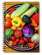 Basketful Of Fresh Vegetables Spiral Notebook