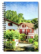 Basque Houses In Ainhoa 2- Vintage Version Spiral Notebook