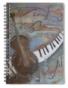 Bass And  Keys Spiral Notebook