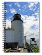 Bass Harbor Light Spiral Notebook