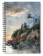 Bass Harbor Lighthouse On Maine Nautical Chart Spiral Notebook