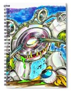Bass Monster Spiral Notebook