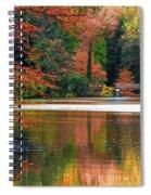 Pond In Autumn Spiral Notebook