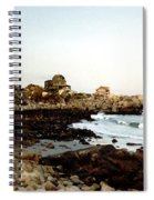 Bass Rocks Sunset Spiral Notebook