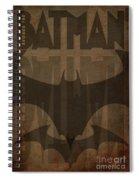 Bat Brown  Spiral Notebook
