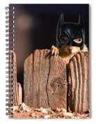 Bat Squirrel  The Cape Crusader Known For Putting Away Nuts.  Spiral Notebook