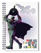 Batfleck And The Bomb 2 Spiral Notebook