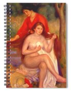Bather And Maid The Toilet Spiral Notebook