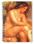 Bather Drying Her Leg Spiral Notebook