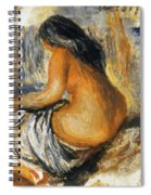 Bather From The Back Spiral Notebook