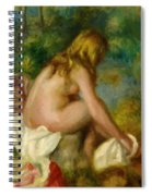 Bather Seated Nude Spiral Notebook