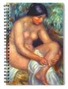 Bather Wiping A Wound 1909 Spiral Notebook