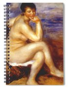 Bather With A Rock Spiral Notebook