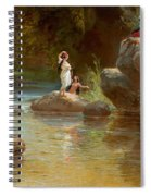 Bathers At The River. Evening In Orinoco? Spiral Notebook