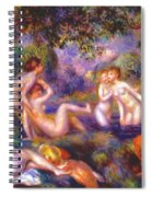 Bathers In The Forest Spiral Notebook