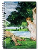 Bathers Male And Female Spiral Notebook