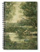 Bathers. Woodland Spiral Notebook