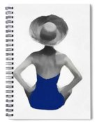 Bathing Beauties Usa Red White Blue Spiral Notebook